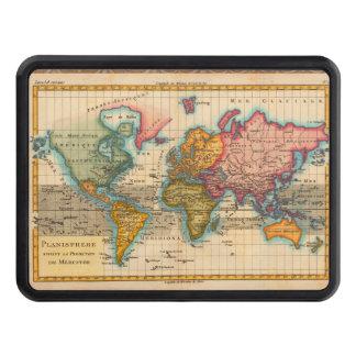 Mapa del mundo del vintage tapa de remolque