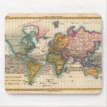 Mapa del mundo del vintage tapete de raton