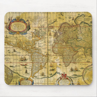 Mapa del mundo del vintage tapetes de raton