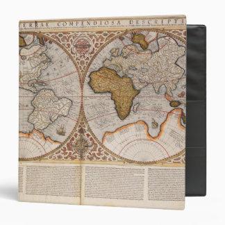 """Mapa del mundo doble del hemisferio, 1587 carpeta 1 1/2"""""""