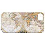 Mapa del mundo dual antiguo del hemisferio iPhone 5 cárcasa
