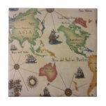 Mapa del mundo el Pacífico Azulejo Ceramica
