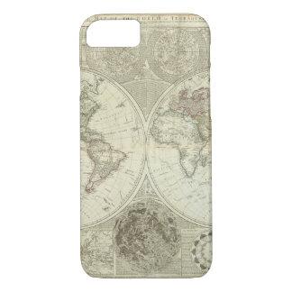 Mapa del mundo empeorado 25 funda iPhone 7