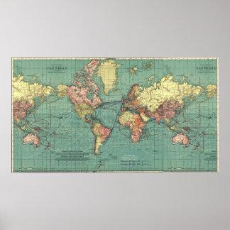 Mapa del mundo en 1919-1921 posters