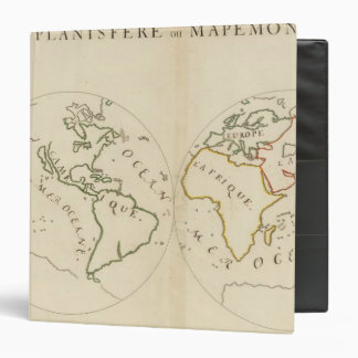Mapa del mundo en 4 porciones