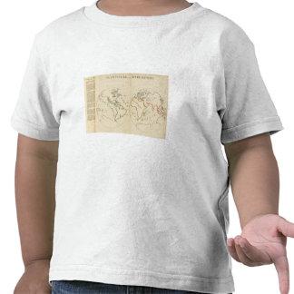 Mapa del mundo en 4 porciones camiseta
