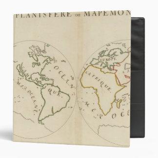 """Mapa del mundo en 4 porciones carpeta 1 1/2"""""""