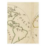 Mapa del mundo en 4 porciones tarjeta postal