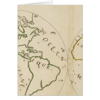 Mapa del mundo en 4 porciones tarjetas