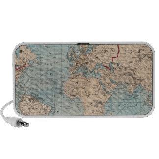 Mapa del mundo en la proyección de Mercator Altavoces De Viaje