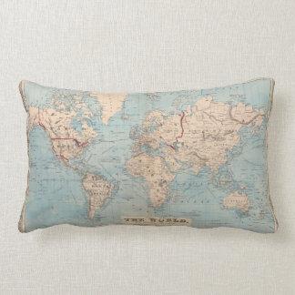 Mapa del mundo en la proyección de Mercator Cojín Lumbar