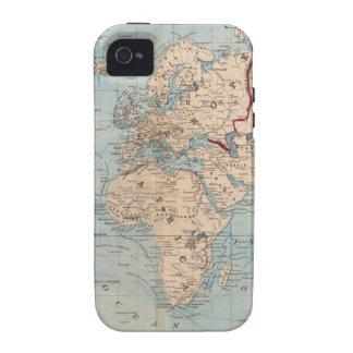 Mapa del mundo en la proyección de Mercator iPhone 4/4S Carcasa