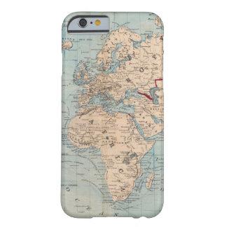 Mapa del mundo en la proyección de Mercator Funda Para iPhone 6 Barely There