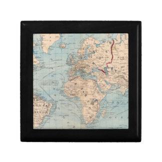 Mapa del mundo en la proyección de Mercator Cajas De Recuerdo