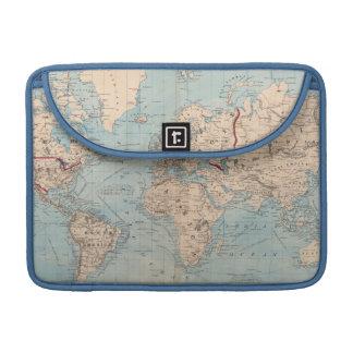 Mapa del mundo en la proyección de Mercator Funda Macbook Pro