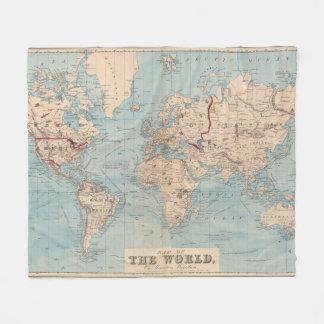 Mapa del mundo en la proyección de Mercator Manta Polar