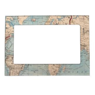 Mapa del mundo en la proyección de Mercator Marcos Magneticos