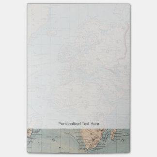 Mapa del mundo en la proyección de Mercator Post-it Notas