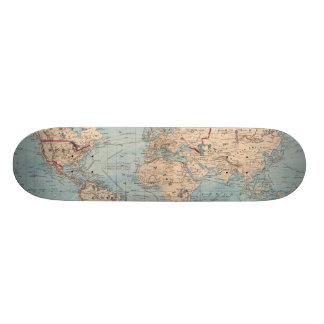 Mapa del mundo en la proyección de Mercator Patinetas Personalizadas