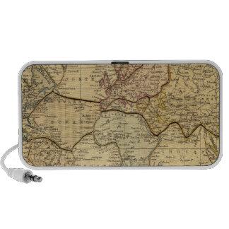 Mapa del mundo en la proyección de Mercators Notebook Altavoces