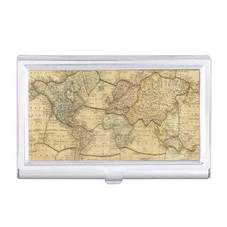 Mapa del mundo en la proyección de Mercators Caja De Tarjetas De Presentación