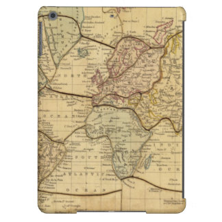 Mapa del mundo en la proyección de Mercators Carcasa iPad Air