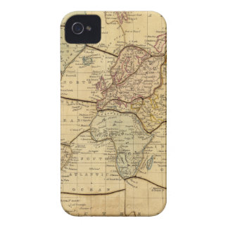 Mapa del mundo en la proyección de Mercators Carcasa Para iPhone 4