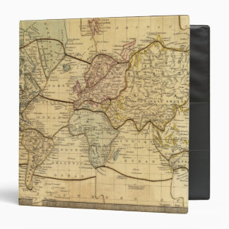 """Mapa del mundo en la proyección de Mercators Carpeta 1 1/2"""""""