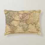 Mapa del mundo en la proyección de Mercators Cojín