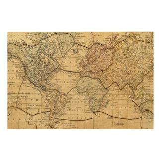 Mapa del mundo en la proyección de Mercators Cuadros De Madera