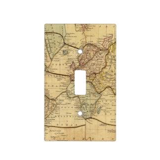 Mapa del mundo en la proyección de Mercators Cubierta Para Interruptor