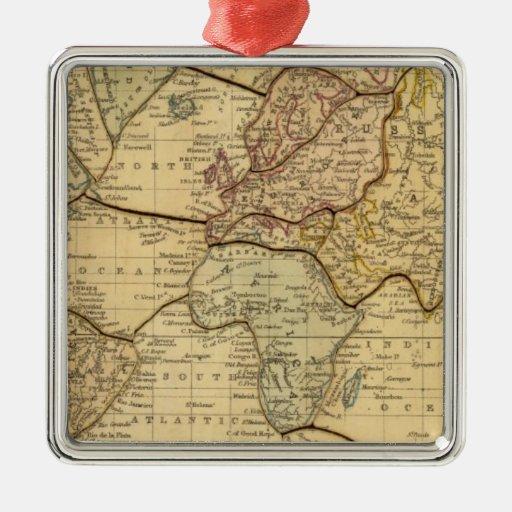 Mapa del mundo en la proyección de Mercators Adornos