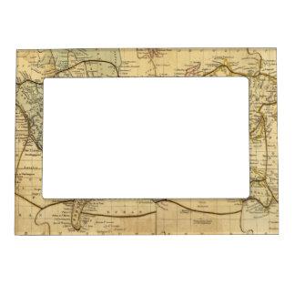 Mapa del mundo en la proyección de Mercators Foto De Imanes