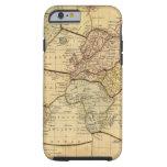 Mapa del mundo en la proyección de Mercators Funda De iPhone 6 Tough