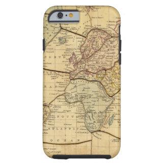 Mapa del mundo en la proyección de Mercators Funda Para iPhone 6 Tough