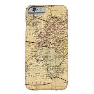 Mapa del mundo en la proyección de Mercators Funda Barely There iPhone 6