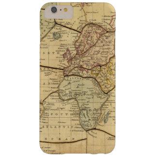 Mapa del mundo en la proyección de Mercators Funda Barely There iPhone 6 Plus