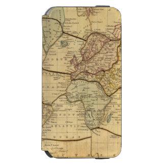 Mapa del mundo en la proyección de Mercators Funda Billetera Para iPhone 6 Watson