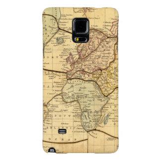 Mapa del mundo en la proyección de Mercators Funda Galaxy Note 4