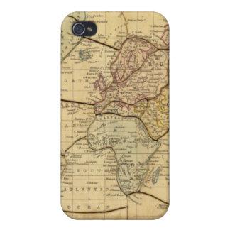 Mapa del mundo en la proyección de Mercators iPhone 4 Cárcasas