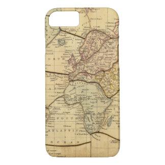 Mapa del mundo en la proyección de Mercators Funda iPhone 7