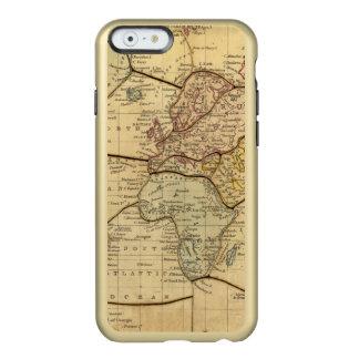 Mapa del mundo en la proyección de Mercators Funda Para iPhone 6 Plus Incipio Feather Shine