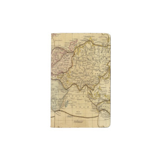Mapa del mundo en la proyección de Mercators Funda Para Libreta Y Libreta Pequeña Moleskine