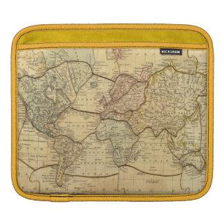 Mapa del mundo en la proyección de Mercators Fundas Para iPads
