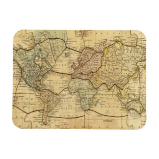 Mapa del mundo en la proyección de Mercators Imanes Rectangulares