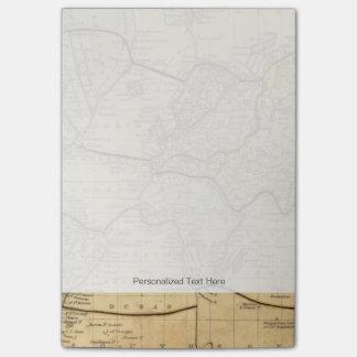 Mapa del mundo en la proyección de Mercators Post-it Notas
