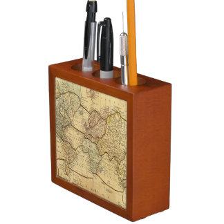 Mapa del mundo en la proyección de Mercators Organizador De Escritorio