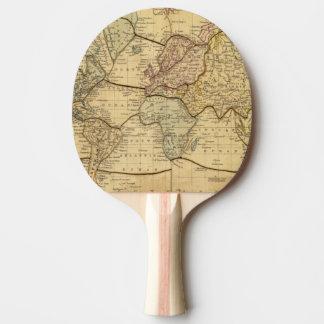 Mapa del mundo en la proyección de Mercators Pala De Ping Pong