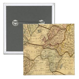 Mapa del mundo en la proyección de Mercators Pin Cuadrado