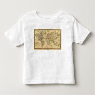 Mapa del mundo en la proyección de Mercators Polera